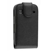 Synthetic Snakeskin Leather Flip Case for Samsung Galaxy Gio S5660 - Samsung Leather Flip Case (Classic Black)