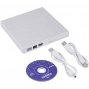 ER USB 2.0 External CD ± RW DVD ± RW Escritor DVD-RAM Quemador Drive Para PC Portátil (Blanco).