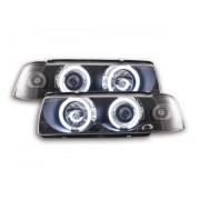 FK-Automotive fari Angel Eyes CCFL BMW serie 3 E36 Coupe/Cabrio anno di costr. 92-98 nero