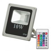 Proiector slim cu led 10W RGB si telecomanda