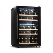 Klarstein Barossa 40D, frigider de vinuri, 2 zone, 135 l, 41 sticle, ușă de sticlă, tactil (HEA3-Barossa-40D)