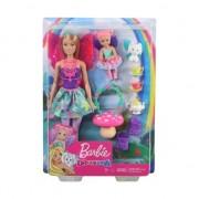 Set papusa Mattel Barbie Dreamtopia - Gradinita de zane cu 15 accesorii