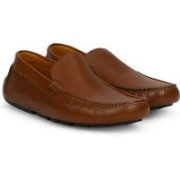 Clarks Davont Drive Tan Interest Lea Loafers For Men(Tan)