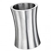 ELECTROPRIME Wine Bottle Cooler Stainless Steel Ice Bucket Double Wall Brushed Finish 2L