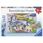 PUZZLE POLITIE, 2X12 PIESE - RAVENSBURGER (RVSPC07578)