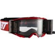 Leatt Velocity 6.5 Roll-Off Óculos de motocross Branco Vermelho único tamanho