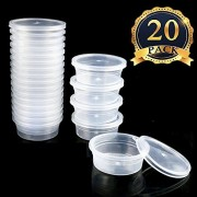 Slime Containers for Slime Supplies, Plastic Container for Slime, Foam Ball Storage Containers with Lids for 20g Slimes