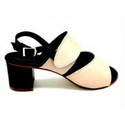 ESTRO Made in Italy Sandalo Doppia Fascia - Malva - - R-L36-19