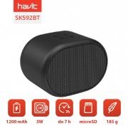Boxa portabila wireless, Havit SK592BT, 3W, bluetooth, microSD, aux, 1200 mAh, 7h autonomie, Negru
