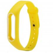 Para Xiaomi Mi Banda 2 Colorida Silicona Correa De Muñeca Watch Band, Anfitrión No Incluido (amarillo + Blanco)