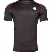Gorilla Wear Performance T-Shirt - Zwart/Rood - 2XL
