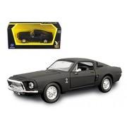 1968 Ford Shelby Mustang GT 500 KR Matt Black 1/43 Model Car by Road Signature