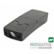 Dispozitiv portabil cu ultrasunete si flash-uri pentru alungarea cainilor Pestmaster Super Dog Chaser, 12 m