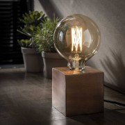 Zaloni Tafellamp Block 10 cm hoog in zwart nikkel