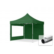TOOLPORT Pop Up Gazebo 3x3m High Performance Polyester 400 g/m² dark green waterproof