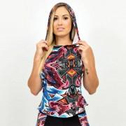 GraffitiBeasts Katre - Dames hoodie voorzien van bijzonder graffiti design - Multicolor - Size: Large