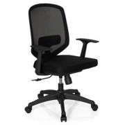 Hjh Sedia ufficio DAMA, sostegno lombare regolabile, alta qualità, 8h uso, in nero