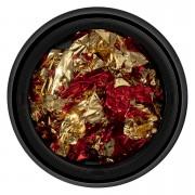 Foita Unghii LUXORISE - Unique Red & Gold #07