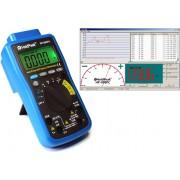 HOLDPEAK 90EPC Digitális multiméter USB PC port VDC VAC ADC AAC ohm kapacitás frekvencia hőmérséklet.