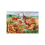 Puzzle de podea cu dinozauri, 48 piese, 92 x 61 cm