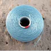S- Lon bead thread - Light Blue, strl D, 1 rulle
