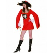 Vegaoo Musketier-Kostüm rot für Damen