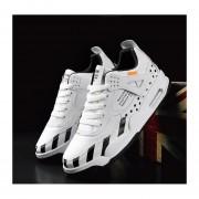 Zapatillas de hombre de primavera deporte y ocio negro y blanco
