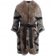Bazar Deluxe Cappotto Bazar Deluxe in lana con collo il pelliccia