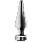 Karcsú análdugó rozsdamentes acélból elegáns kristállyal - 72943448