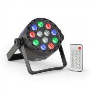 PLS25 Par UV Luz LED 12 x 1W RGBW Bateria de LED Controlo Remoto
