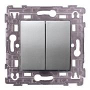SOPIA Doppel Lichtschalter silber 159371
