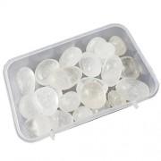 eshoppee 100 gm Crystal Quartz Stone Tumble 100% Natural Genuine Original Tumbled kit, Crystal Healing Gemstones (Crystal Quartz)