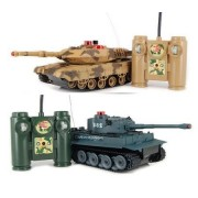 HQ Iplay Rc Battling Tanks, Set Of 2 Full Size Infrared Radio Remote Control Battle Tanks