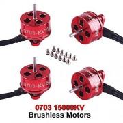 4pcs 0703 Brushless Motors 15000KV 1S Version Happymodel SE0703 Micro Motor for Micro Brushless Whoop Frame