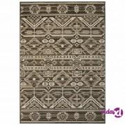 vidaXL Unutarnji/vanjski ukrasni tepih s izgledom sisala 80x150 cm geometrijski uzorak