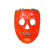 Halloween Masks, DAXIN DX LED Skull Rave Mask - Anonymous Scary Mask - Pumpkin Lights 7 Modes 6 LED Colors