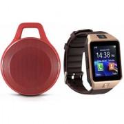 Zemini DZ09 Smart Watch and Clip Plus Bluetooth Speaker for SONY xperia t2 ultra dual(DZ09 Smart Watch With 4G Sim Card Memory Card| Clip Plus Bluetooth Speaker)