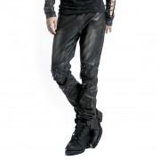 Pantalon hommes PUNK RAVE- Therion - noir / argent - K-145-male-bk