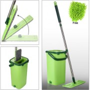 Smile Mom Magic Mop Stick Rod with Bucket Set in Offer for Wet Dry Use Best 360 Degree Spin Easy Floor Cleaning for