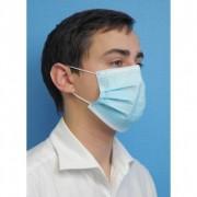 Prorisk Masques d'hygiène bleus non tissé usage unique 3plis (50 pcs) 0.000000