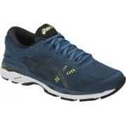 Asics GEL - KAYANO 24 Running Shoes For Men(Blue, Black, Yellow)
