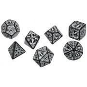 Q Workshop Steampunk Dice Set, Black/White