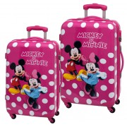 Set 2 Trolere Abs 55/67 cm 4 Roti Minnie si Mickey Lunares