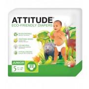 Scutece ecologice de unica folosinta marime 5 (12kg) ATTITUDE Eco-friendly 22 buc.