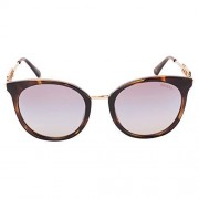 GUESS Women's Mirrored Gu7645 GU7645-52G-52 Brown Cat Eye Sunglasses