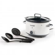 Crock-Pot Slow cooker elettrico con 3 programmi, utensili e ricettario