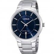 Lorus RS935BX-9 Silver Tone Cadran bleu avec montre-bracelet date Quartz/inox