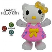 HELLO KITTY - MUSICAL DANCING KIDS TOY with 3D Flashing Lights for Infant Best Gift Set as Baby Toys