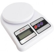 Shopelven Electronic Kitchen Scale Battery Operated White Weighing Scale(White)
