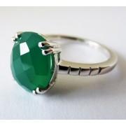 Inel argint onix verde -VR05298 (MASURI IN STOC ⤵: 60 mm circumferinta sau 19,1 mm diametru interior, Categorie: inele)